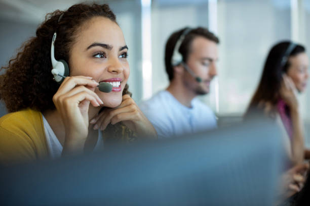 Customer service executive working at Commport office